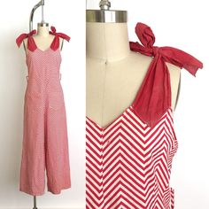 vintage 1930s overalls | 30s rare zig zag beach pyjamas by RubyMaeRose on Etsy https://www.etsy.com/listing/527425090/vintage-1930s-overalls-30s-rare-zig-zag