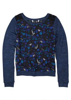 Printed Hacci Pullover - Tops - Clothes - dELiA*s College Girl Fashion, College Girls, Graphic Sweatshirt, Pullover, Sweatshirts, Sweaters, Prints, Fashion Tips, Clothes