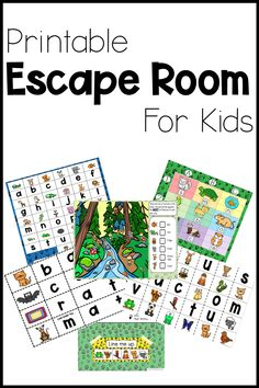 PRINTABLE ESCAPE ROOM Print and go! No materials required. 5 minute set up. #printableescaperoom #printableescaperoomforkids