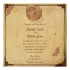 This old world style design, called Vintage Stone Barn Posh Wedding, has a beautiful classic design. #Wedding #Invitations