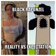 Once upon a time rapunzel reality vs expectation