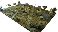 "This is a tutorial on ""How to make Trees"" I equate adding trees to a gaming table like adding candles on a birthday cake,it just doesn'. Warhammer Terrain, 40k Terrain, Game Terrain, Wargaming Table, Wargaming Terrain, Bolt Action Miniatures, How To Make Trees, Sims, Crop Field"