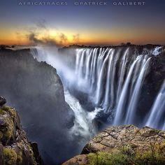 Beautiful landscape  Victoria Falls waterfalls Zambia South Africa