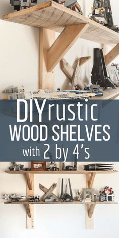 Want a unique set of shelves that don't break the bank? Create these simple and … Want a unique set of shelves that don't break the bank? Create these simple and easy stylish rustic shelves with 2 by and you will be laughing at how easy they can be! Home Office Furniture, Rustic Furniture, Diy Furniture, Plywood Furniture, Furniture Projects, Furniture Plans, Building Furniture, Diy Home Decor Projects, Unique Home Decor