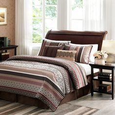 Perfect for pairing with a variety of decor styles, this gorgeous five-piece bedding set is sure to transform any bedroom. Made of brushed polyester for a plush, elegant feel, this luxurious set incor