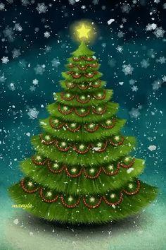 Life is beautiful! Christmas Tree Gif, Merry Christmas Card, Christmas Scenes, A Christmas Story, Christmas Pictures, Christmas Greetings, Christmas Fun, Vintage Christmas, Christmas Bulbs