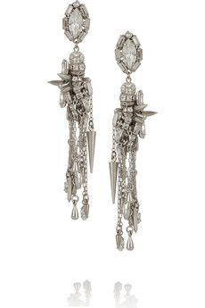 Erickson Beamon The Shining silver-plated Swarovski crystal earrings | NET-A-PORTER