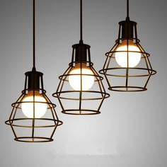 Find More Pendant Lights Information about Loft Iron Cage Pendant Lights With E27 Bulb Vintage Lamp Industrial Hanging Pendant Lamp Black/White lustres de sala luminarias,High Quality pendant lighting purple,China pendant lighting lowes Suppliers, Cheap pendant lights metal from Zhongshan East Shine Lighting on Aliexpress.com