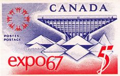 In an earlier post I provided a detailed philatelic account of Expo. This post focuses on the commemorative stamp issued by Canada Post Office on April . Canada For Kids, Canada 150, Canada Post, Timbre Canada, Expo 67 Montreal, Canadian Coins, Commemorative Stamps, Canada Images, Commercial Art