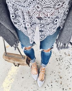 Today's details. 💙 Love this blouse from @chicwish and my ripped jeans are on sale! http://liketk.it/2pmZA @liketoknow.it #liketkit #chicwish  via ✨ @padgram ✨(http://dl.padgram.com)