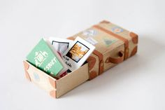 Travel themed decorated matchbox - PAPER CRAFTS, SCRAPBOOKING & ATCs (ARTIST TRADING CARDS)