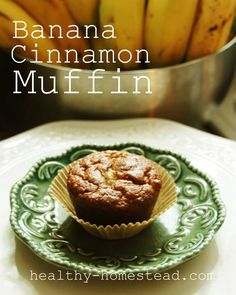 Share these awesome banana cinnamon muffins! They are loaded with flavor, fiber and protein, and are incredibly moist. The bananas do most of the sweetening, and are a total crowd pleaser! www.healthy-homestead.com