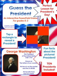 Primary grade social studies fun on pinterest for Fun facts about the presidents