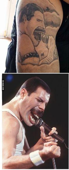 Not so successful Freddie Mercury tattoo