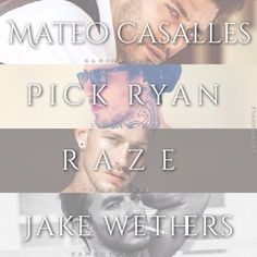 Mateo Casalles Pick Ryan RAZE Jake Wethers  Book Boyfriends ❤️