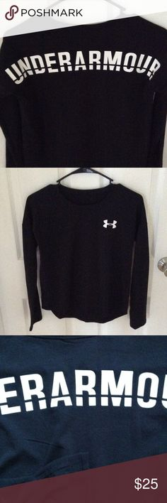 NWOT super cute Under Armour long sleeve NWOT tags were cut off & never worn. Price is firm. Under Armour Shirts & Tops