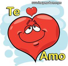 Hermosas Imágenes románticas de corazones con frase TE AMO, para que puedan compartirlos con todos sus seres amados y las personas que mas quieren