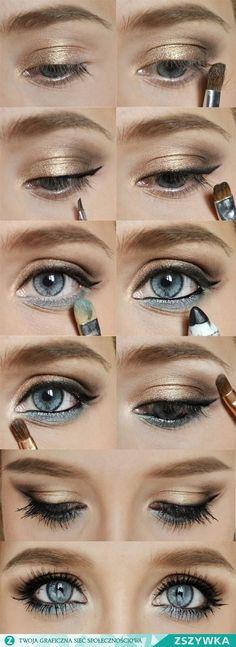 Макияж для голубых глаз: фото Макияж Макияж