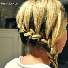 Quick and easy side braid.