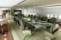 Airbus A380-800 Dining Room by Edése Doret