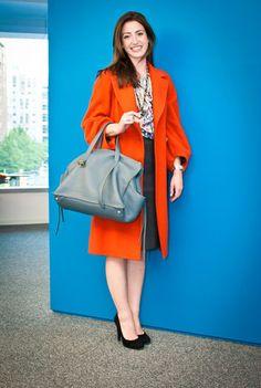 Love this orange Dries coat.