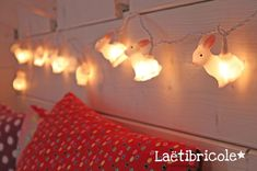 woodland rabbit string lights