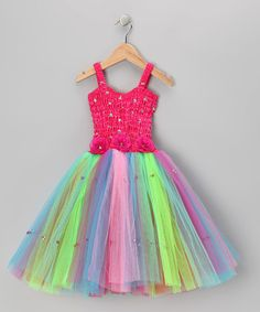 This Fuchsia Rainbow Cindy Dress - Toddler & Girls by Fairy Dreams is perfect! #zulilyfinds