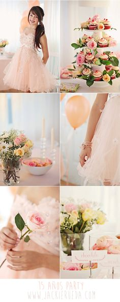 15 años party for a girl - Peach & Pink