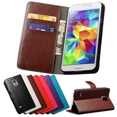 Vintage S5 Wallet PU Leather Case For Samsung Galaxy S5 I9600 With Stand And Card Holder Phone Bag Luxury Flip Cover Coque