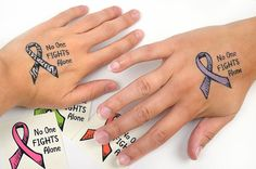 No One Fights Alone® Temporary Ribbon Tattoos