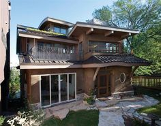 Kohler residence, Milwaukee. Contemporary straw bale home.