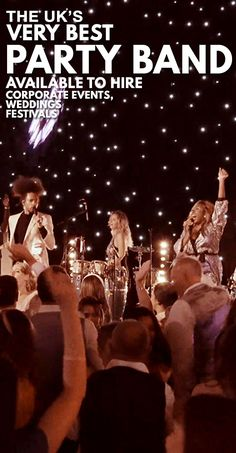 UK's Best Party Band Available To Hire for Weddings, Corporate Events & Festivals - Next Level Music - Entertainment Ideas Wedding Music, Wedding Bands, Luxe Wedding, Wedding Shot, Wedding Reception, Wedding Ideas, Corporate Entertainment, Wedding Entertainment, Entertainment Ideas