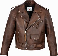 Rockabilly leather jacket in brown 2015 / Rockabilly Lederjacke in braun 2015 Rockabilly, Biker, Leather Jacket, Brown, Jackets, Shopping, Fashion, Clothing, Studded Leather Jacket