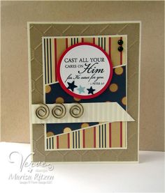 Handmade card by Maureen Plut using Faith Medley from Verve.  #vervestamps