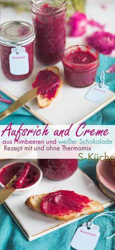 Rezept für himmlischen Aufstrich, Creme oder Füllung aus Himbeeren und weißer Schokolade mit und ohne Thermomix