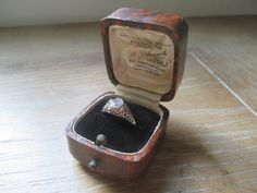 Antique Engagement Ring Box  Presentation by townNcountryVintage