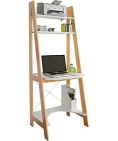 buy ladder bookcase office desk white at. Black Bedroom Furniture Sets. Home Design Ideas