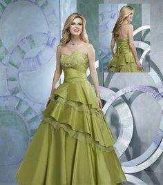 unique color wedding dresses a line sweatheart olive