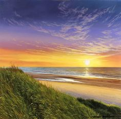 Michael James Smith, Original oil painting on panel, Sunrise at Runswick Bay Art at York Fine Arts Online, Buy Original Fine Art in the UK Sunset Landscape, Landscape Art, Landscape Paintings, Landscapes, Oil Painting Lessons, Oil Painting Pictures, Painting Tips, Robert Duncan, Jack Vettriano