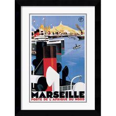 Amanti Art Marseille Port Framed Print by Roger Broders | Wayfair