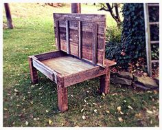 Rustic wooden coffee table by atticandearth on Etsy