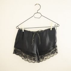 Learn how to make your own cute lace shorts.