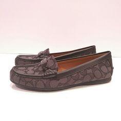 ded4c3a9b Coach Shoes | Coach Loafers 8.5 Flats Shoes Monogram | Color: Black | Size: