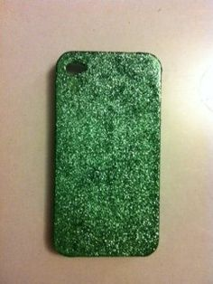 Green Glitter iPhone 4 4s Hard Case by kaylafenton on Etsy, $10.00. If I had an iPhone, I would totally get this.