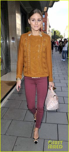 Olivia Palermo: Mulberry Show During London Fashion Week