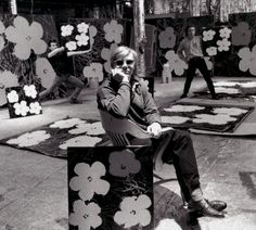 Andy Warhol and his famous Flowers