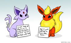 I should seriously start drawing more pokemon stuff again. Pokeshaming: Espeon and Flareon Pokemon Memes, Pokemon Shaming, Pokemon Comics, Pokemon Funny, My Pokemon, Pokemon Fusion, Pikachu, Pokemon Eeveelutions, Eevee Evolutions