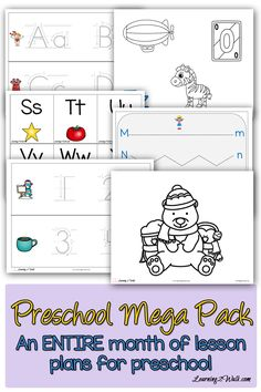 Have you ever been sick and tired of looking all over the internet to put all your preschool worksheets and preschool activities ideas together? I am so happy for this mega pack that I can use for the entire month of January. No more searching.