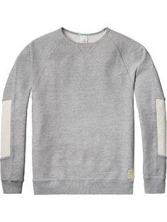 Sweat-shirt avec détails en popeline