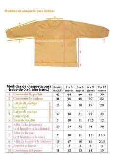 Medidas de chaqueta para bebés